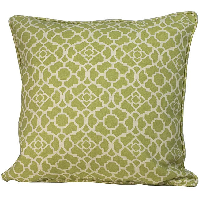 20 x 20-inch Green Moroccan Outdoor Decorative Pillow