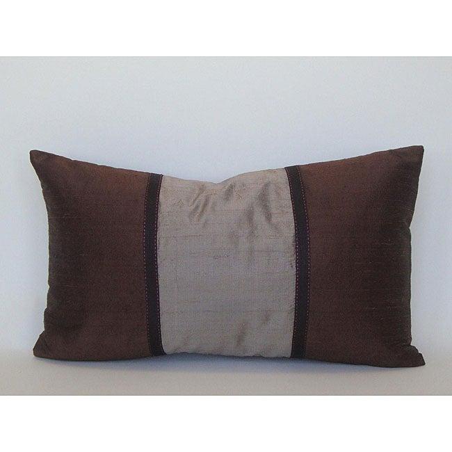 Pieces Brown Silk Decorative Pillow
