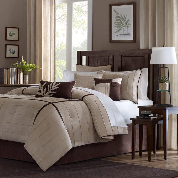 Madison Park Dune Beige/Brown 7-piece Contemporary Comforter Set