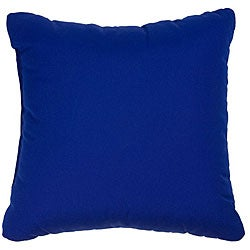 Blue 22-inch Knife-edged Indoor/ Outdoor Pillows with Sunbrella Fabric (Set of 2)