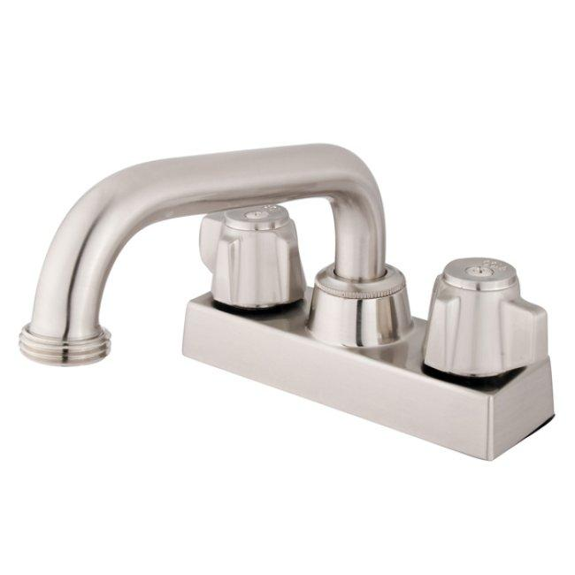 Bathroom Faucets 4 Inch Centerset : Double-handle 4-inch Centerset Satin Nickel Bathroom Faucet ...