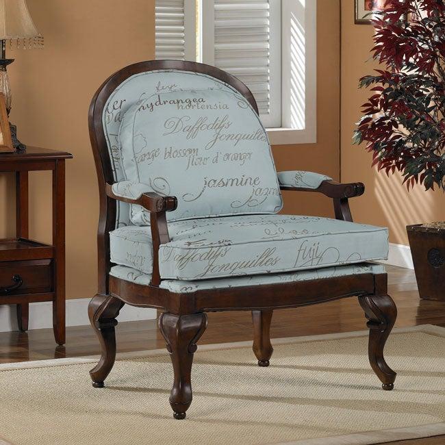 Script Bouquet Arm Chair