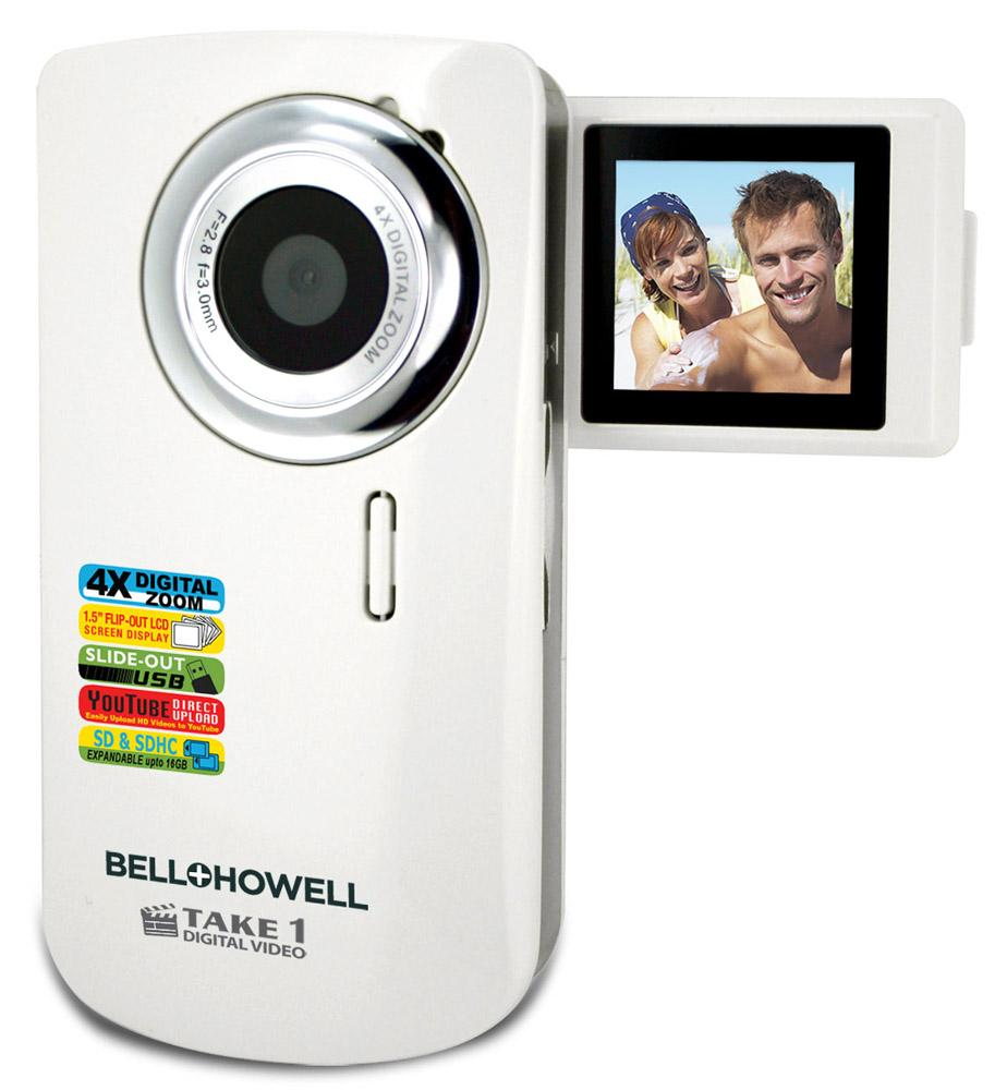 Bell + Howell Take 1 Video Camera with Flip Screen