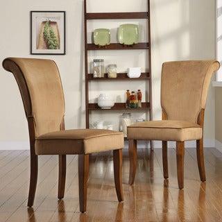TRIBECCA HOME Andorra Peat Velvet Upholstered Dining Chair (Set of 2)