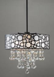 'Bubbles' 4-light Crystal Chandelier