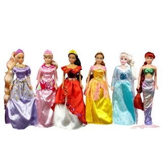 Fairy Tale Princess 6-piece 11-inch Doll Collection
