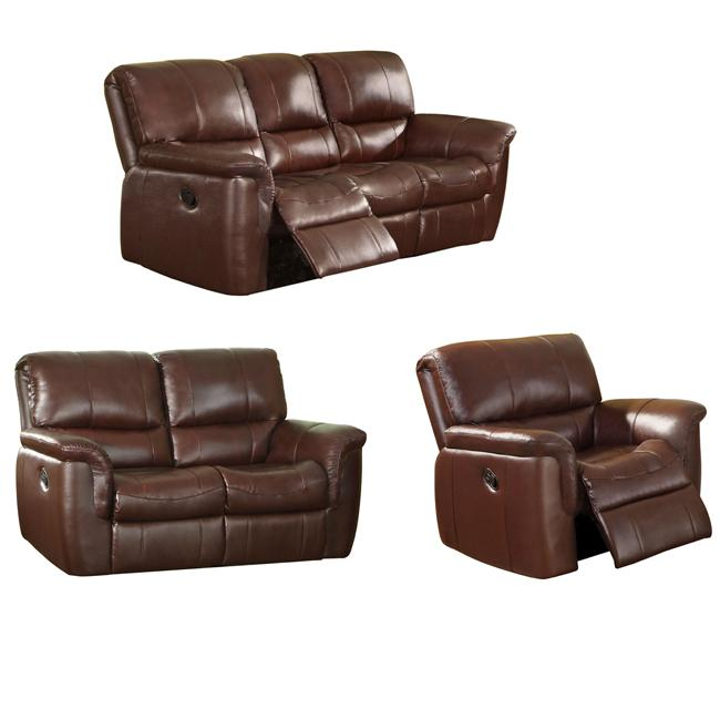 Concorde Wine Leather Reclining Sofa Loveseat And Reclining Chair Overstock Shopping Great