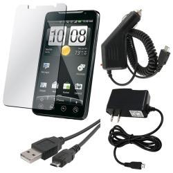 INSTEN 4-piece Combo Kit for HTC EVO 4G