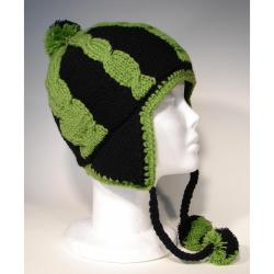 Cotton and Wool Two-tone Striped Ski Hat (Nepal)