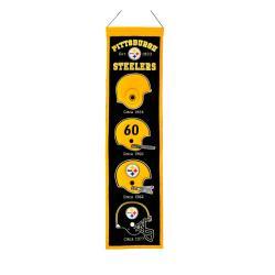 Pittsburgh Steelers Wool Heritage Banner