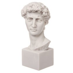 White Bonded Marble Head of Michelangelo's David Statue