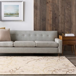 Hand-tufted Whimsy Ivory Wool Rug