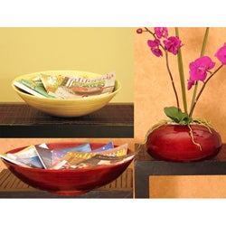 Hand-crafted Bamboo Bowl/ Vase Set