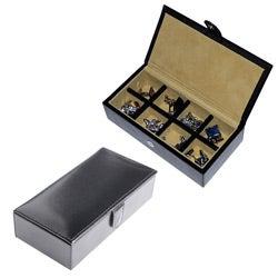 Cuff Daddy Black Leatherette Cuff Links Storage Box