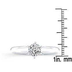 14k White Gold 1/2ct TDW Diamond Solitaire Engagement Ring (I-J, I1-I2)
