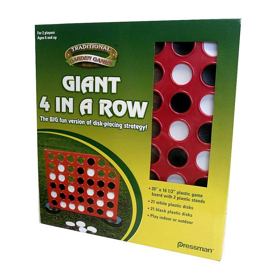 Giant Garden Four-in-a-row Game with Super-sized Plastic Playing Board