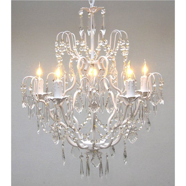 Gallery Regent 5-light White Iron Chandelier
