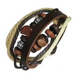 Leather and Stone 'Karma' Bracelet