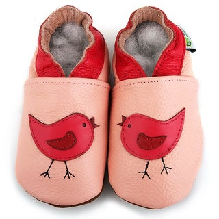 Baby Pie Pink Bird Leather Infant Shoes