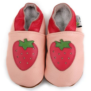 Baby Pie Pink Strawberry Leather Infant Shoes