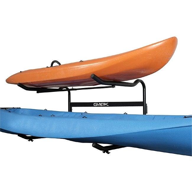 Glacik G-100 Ground-level 2-boat 'C-Deck' Kayak Rack