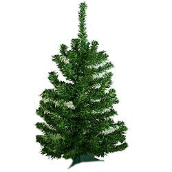 Artificial 32-inch Mini Christmas Trees (Set of 3)