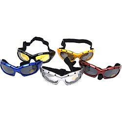 Eyewear Polyurethane and Foam Sports Goggles with Adjustable Strap