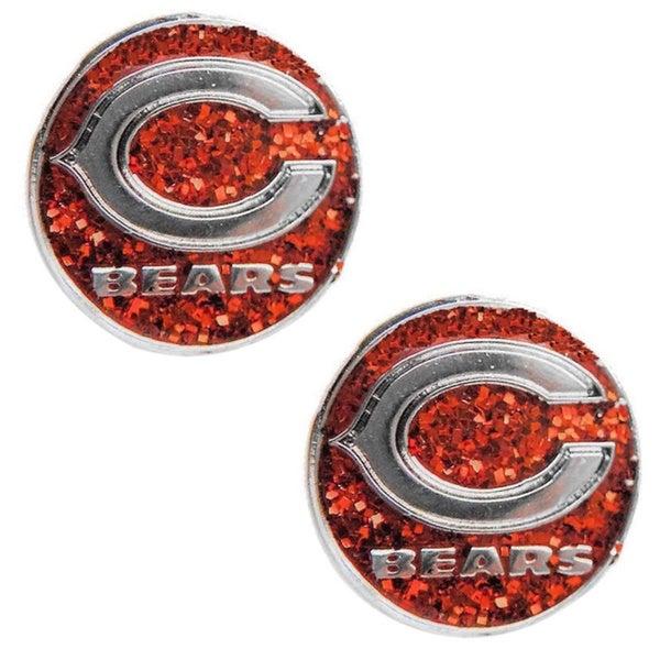 Chicago Bears Sparkle Stud Earrings