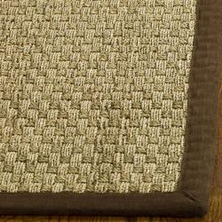 Safavieh Hand-woven Sisal Natural/ Brown Seagrass Runner (2'6 x 6')