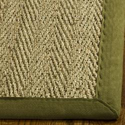 Safavieh Hand-woven Sisal Natural/ Olive Seagrass Runner (2'6 x 4')