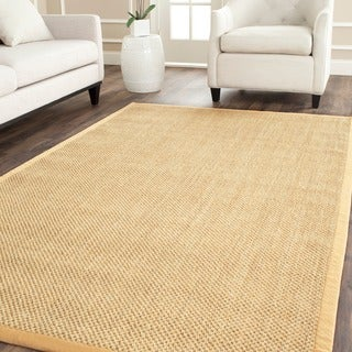 Safavieh Hand-woven Resorts Natural/ Beige Fine Sisal Rug (6' Square)