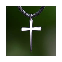 Sterling Silver Men's 'Holy Sacrifice' Necklace (Indonesia)