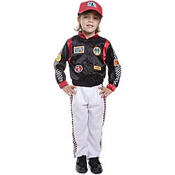Dress Up America Boy's 3-piece Race Car Driver Costume