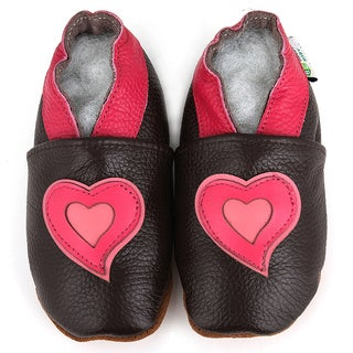 Baby Pie Pink Hearts Leather Girl's Shoes