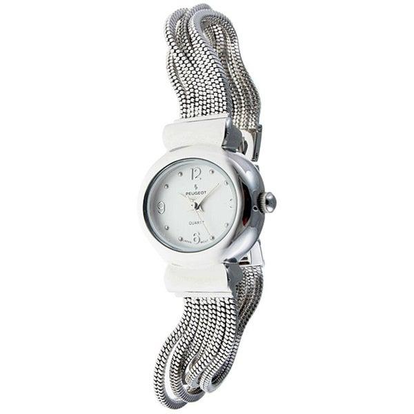 Peugeot Women's Silvertone Jewelry Strand Watch