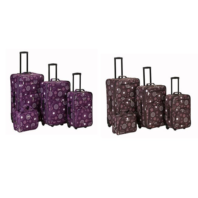 Rockland Deluxe Pearl 4-piece Expandable Luggage Set