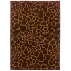 Indoor Brown Animal-print Rug (5' x 7'6)