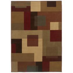 Beige Geometric Rug (5' x 7'6)
