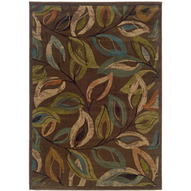 Brown Abstract Rug (7'10 x 10')