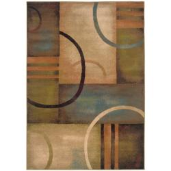 Indoor Beige Abstract Area Rug (7'10 x 10')