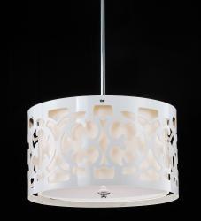 Hermosa White 3-light Pendant Chandelier