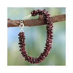Garnet 'Love's Fortunes' Beaded Bracelet (India)