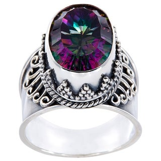 Sterling Silver Oval Exotic Quartz Prominence Ring (Indonesia)