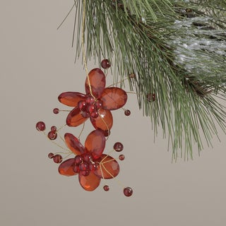 Glass and Acrylic Flower Hanging Christmas Ornament (India)