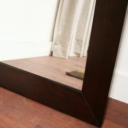 Doniea Dark Brown Wood-framed 31.5-inch Square Mirror