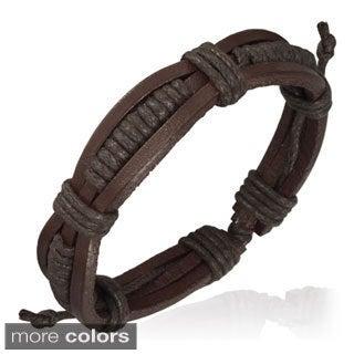 Genuine Leather Brown 'Unity' Bracelet