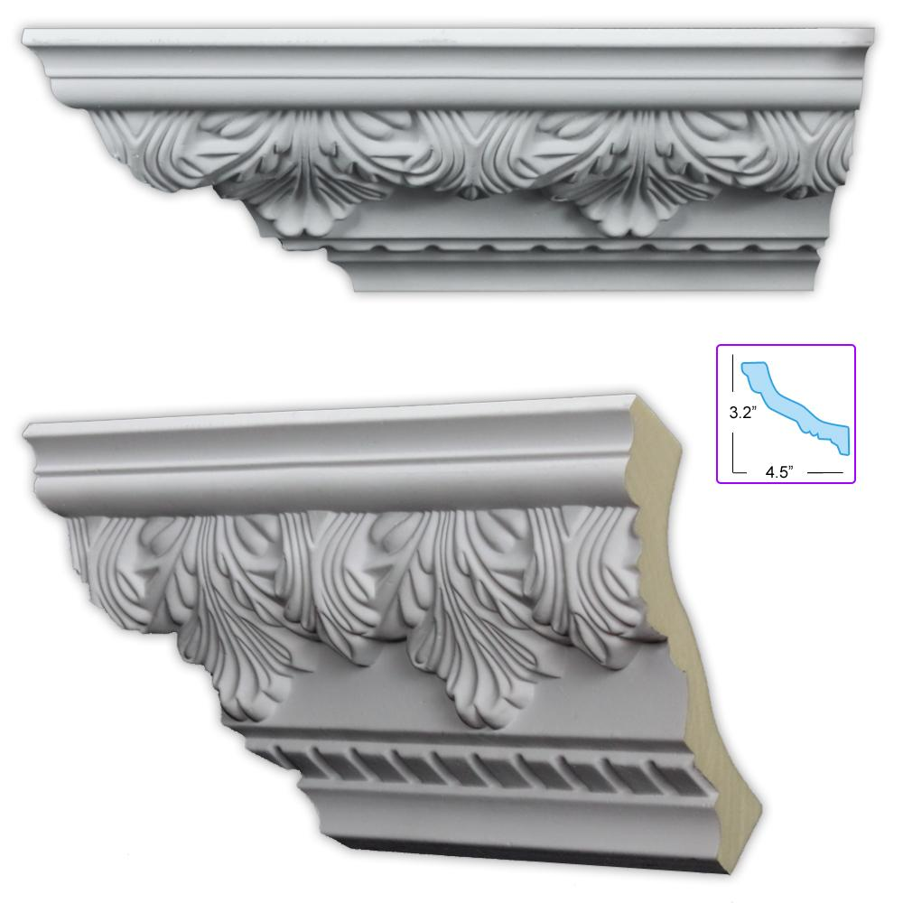 Acanthus and dentil 5 5 inch crown molding 8 pack for 9 inch crown molding