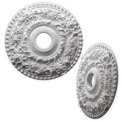 Floral Wreath 18-inch Ceiling Medallion
