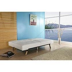 Jacksonville White Foldable Futon Sofa Bed