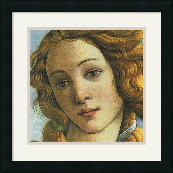 Sandro Botticelli 'The Birth of Venus (Detail II)' Framed Art Print